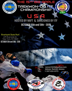 The 15th Big Apple Taekwon-do ITF Championship USA  October 12 -13 -2019