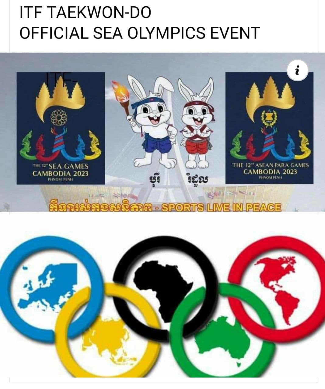 TAEKWONDO ITF OFFICIAL SEA OLYMPICS EVENT 2023 y.
